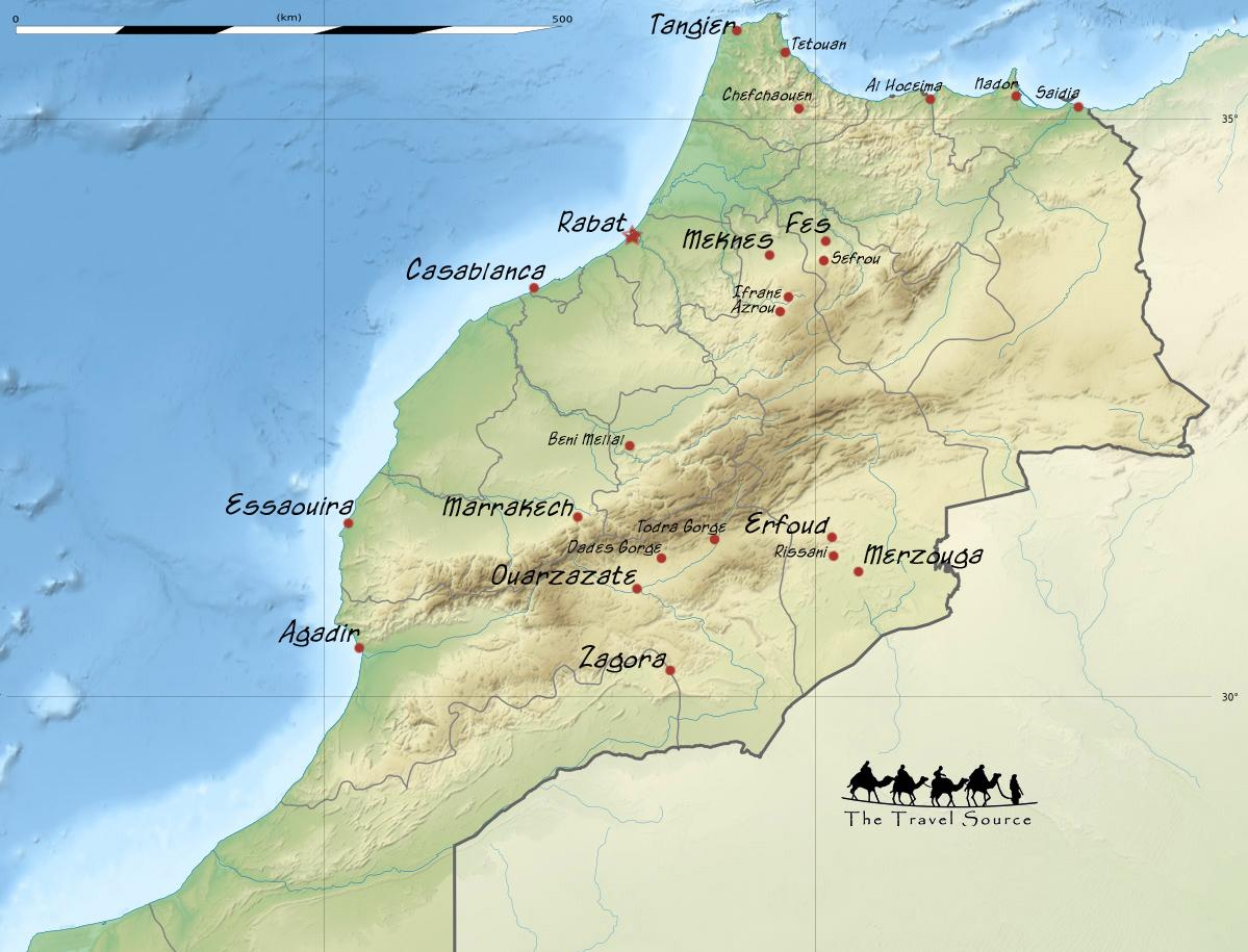 Morocco Map – Morocco Tourist Map